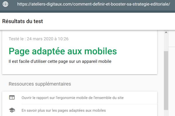 indexer une page web : attention à l'affichage mobile