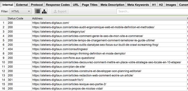 indexer une page web : attention au code réponse