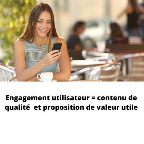 engagement utilisateur