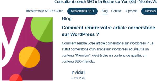rendre votre artcicle cornerstone sur wordpress