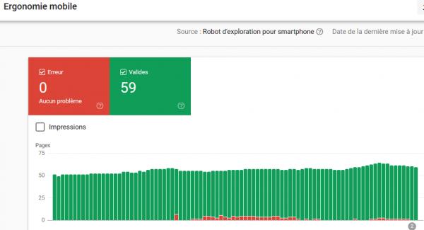 règles d'ergonomie mobile - rapport de la search console