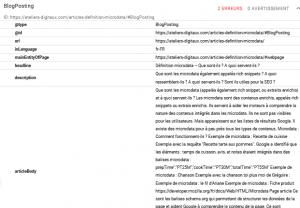 microdata article blogposting