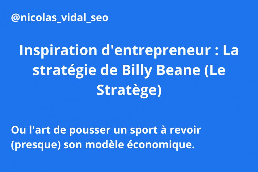 stratégie de billy beane