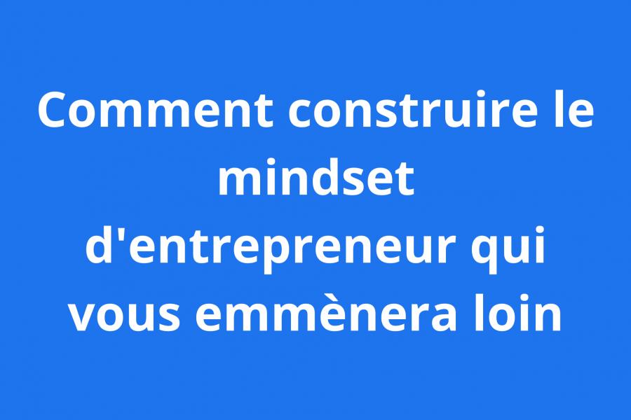 mindset d'entrepreneur