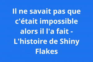 maximilian schmidt alias shiny flakes - il ne savait pas que c'était impossible alors il l'a fait