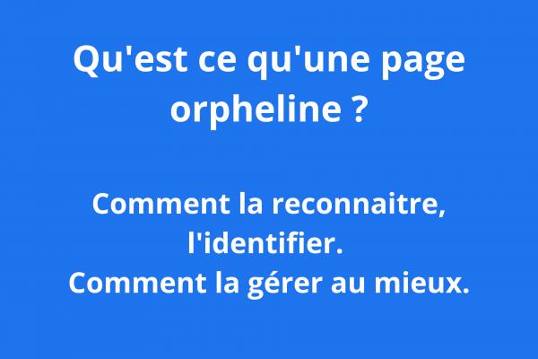 page orpheline